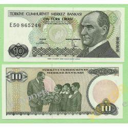 Turcja 10 LIRASI 1970