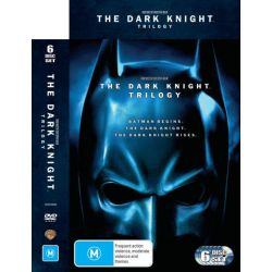 Dark Knight Rises Trilogy (Batman Begins / The Dark Knight / The Dark Knight Rises) (6 Discs) on DVD.
