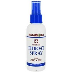 Nutribiotic First Aid Throat Spray with Zinc GSE 4 Oz