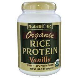 Nutribiotic Organic Vegan Rice Protein Vanilla 1 5 Lbs