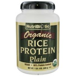 Nutribiotic Organic Vegan Rice Protein Plain Flavor 1 5 Lbs