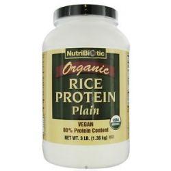 Nutribiotic Organic Vegan Rice Protein Plain Flavor 3 Lbs