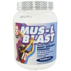 MLO Mus L Blast Protein Powder Body Building Formula Vanilla 47 Oz