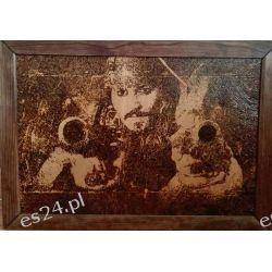 Obraz na desce ręcznie wypalany Jack Sparrow Rękodzieło