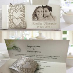 Zaproszenia ślubne, ze zdjęciem, na ślub + Kop+Bil