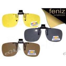 Nakładki polaryzacyjne na okulary korekcyjne 3szt