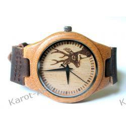 Eko zegarek z drewna z JELENIEM Biżuteria i Zegarki