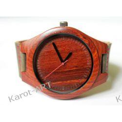 NOWOŚĆ drewniany zegarek z czerwonego sandałowca Zegarki