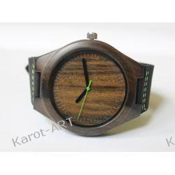 NOWOŚĆ drewniany zegarek z czarnego sandałowca Zegarki