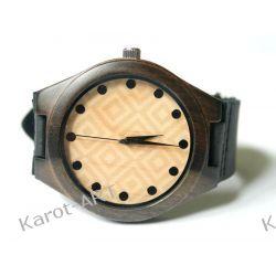 NOWY WZÓR! Drewniany zegarek z czarnego sandałowca Zegarki