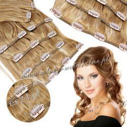Clip in Doczepiane włosy 100% Naturalne Remy 45cm