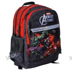 Paso Avengers AVB-116. Plecak szkolny dwukomorowy -czerwono-grafitowy