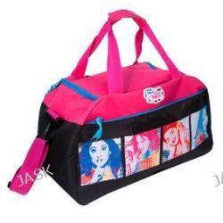 Paso Disney Violetta DVH-018. Torba sportowo-podróżna jednokomorowa - czarno-różowa