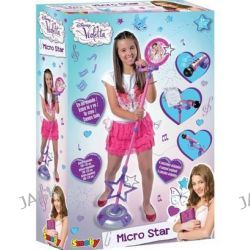 Smoby - Mikrofon ze statywem - Violetta
