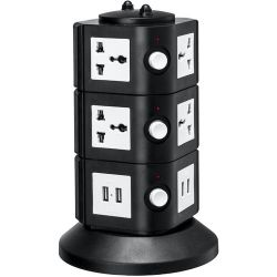 Yubi Power Power Tower with 8 Surge-Protected TOW-3L-UNI B&H