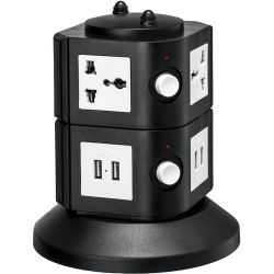 Yubi Power Power Tower with 4 Surge-Protected TOW-2L-UNI B&H