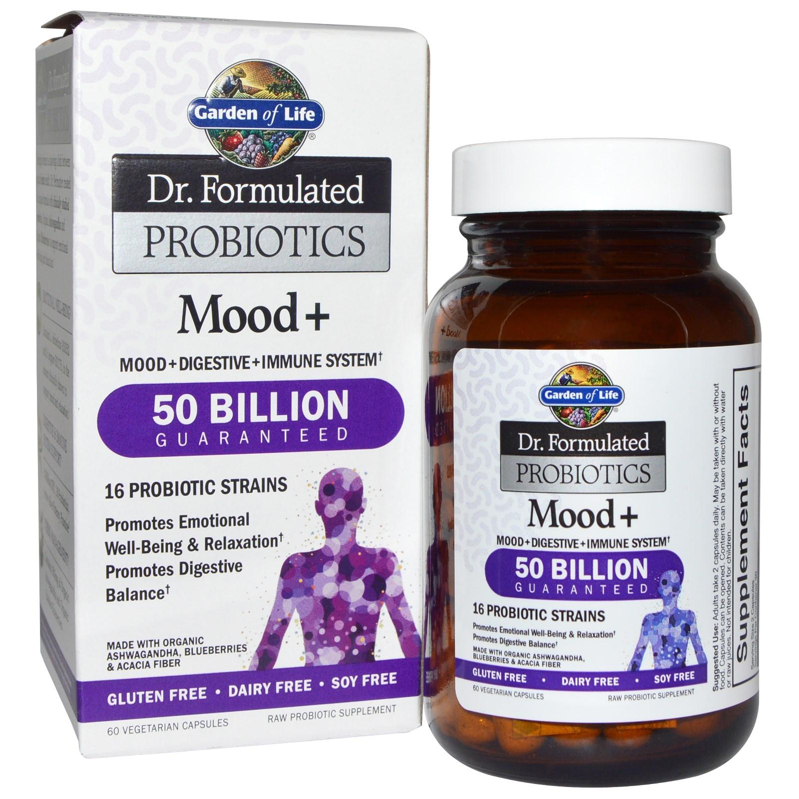 Garden Of Life Dr Formulated Probiotics Mood 60 Veggie Caps Na