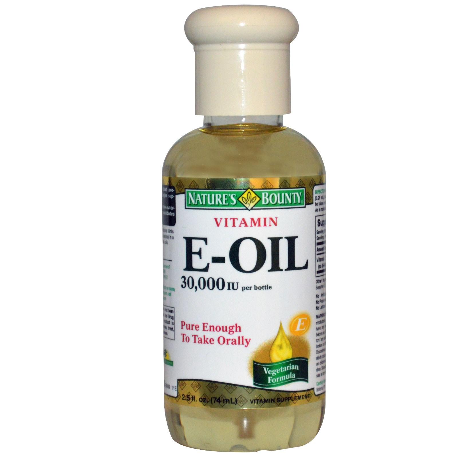 Nature S Bounty Vitamin E Oil For Face