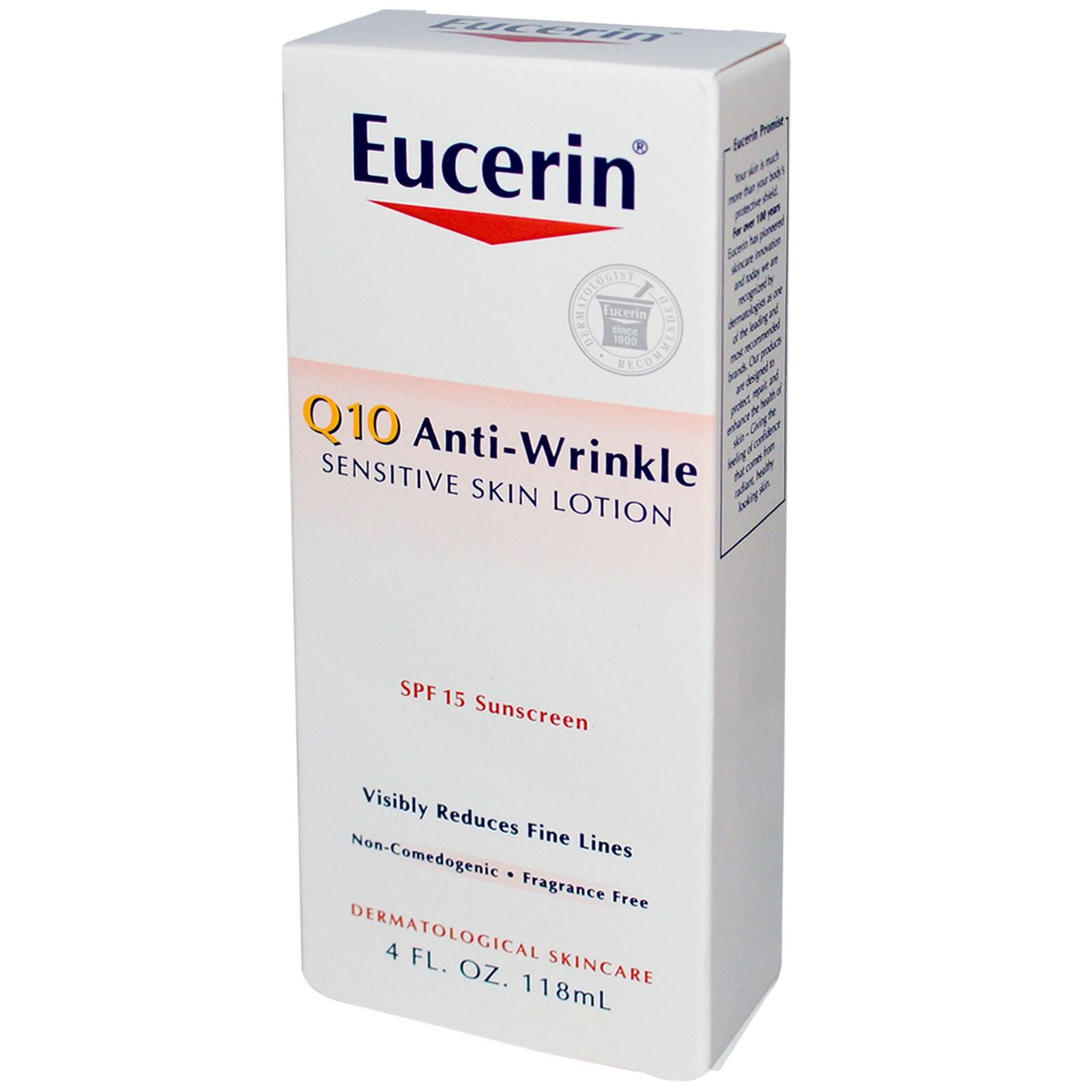 Eucerin q10 anti wrinkle sensitive skin lotion
