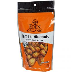 Eden Foods, Organic Tamari Almonds, Dry Roasted, 4 oz (113 g)