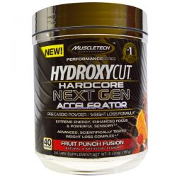 Hydroxycut, Hydroxycut Hardcore Next Gen Accelerator, Fruit Punch Fusion, 6.59 oz (187 g)