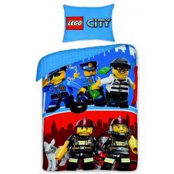 POŚCIEL 140x200 LEGO CITY KLOCKI DZIECIĘCA STRAŻ