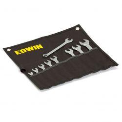 Klucze płasko-oczkowe, 42235 mm, 9 elementów EDWIN Narzędzia i sprzęt warsztatowy