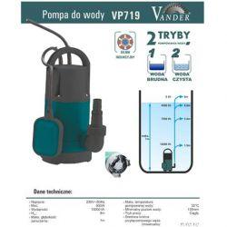 Pompa do wody z pływakiem VP719 VANDER 900W