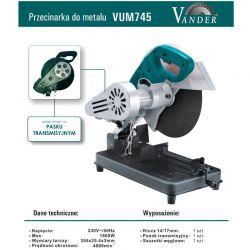 Przecinarka do metalu VUM745 VANDER- pasek klinowy