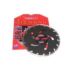 Tarcza diamentowa segmentowa 230 czarna 230 POWER-ALT