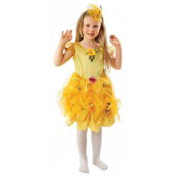 Strój Lato 134 kostium królowa kwiatów sukienka