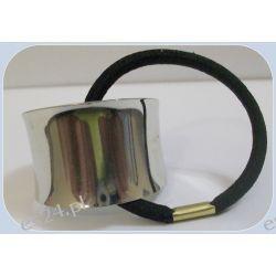 Metalowa gumka HAIR CUFF Biżuteria i Zegarki