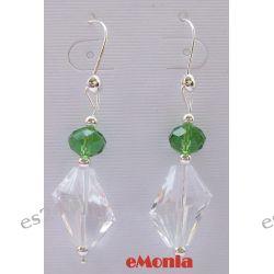 Kolczyki z motywem zielonego jabłuszka Biżuteria i Zegarki