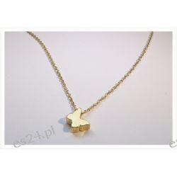 Złoty łańcuszek typu Celebrytka z złotą zawieszką
