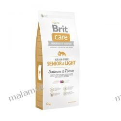 Brit Care - Grain-free Senior & Light Salmon & Potato 3kg