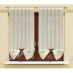 firany roletka wachlarz z tkaniny dekoracyjnej