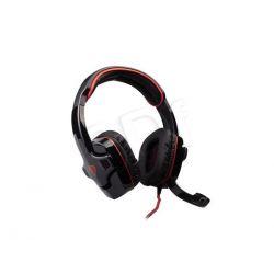 Słuchawki nauszne z mikrofonem Natec GENESIS HX66 USB VIRTUAL 7.1 (Czarno-czerwony)...