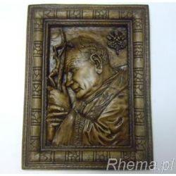 Płaskorzeźba Papież JPII (2) gips.32x42 - 44844