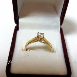 Pierścionek złoty z cyrkonią Biżuteria i Zegarki