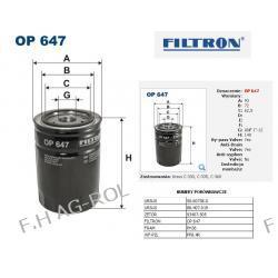 FILTR OLEJU FILTRON-OP 647/ URSUS C-330/C-360 FIRMY-FILTRON   Lampy tylne