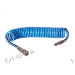 Wąż-przewód spiralny do kompresora z szybkozłączem 12 metrów