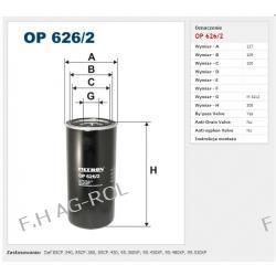 Filtr oleju FILTRON-OP 626/2 Zastosowania:   Daf 85CF.340, 85CF.380, 85CF.430, 95.380XF, 95.430XF, 95.480XF, 95.530XF  Żarówki