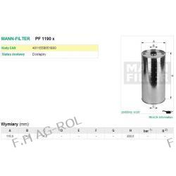 Filtr oleju wkład MANN PF1190X zastosowanie: CLAAS-DOMINATOR,JAGUAR,MERCATOR KOMBAJNY, MERCEDES Żarówki