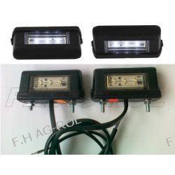 2 X Lampa oświetlenia tablicy rejestracyjnej uniwersalna - mała , diodowa 12/24V CENA ZA 2SZT=1KPL Żarówki