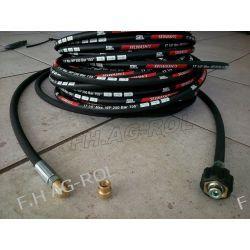 Wąż przewód do czyszczenia rur i kanalizacji,kret, myjki KARCHER, 12 metrów,250 BAR, TEMP: DO 155° ,DN06 , oplot metalowy