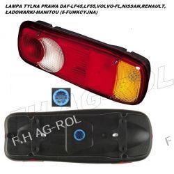 LAMPA TYLNA PRAWA DAF-LF45,LF55,VOLVO-FL,NISSAN,RENAULT,ŁADOWARKI-MANITOU (5-FUNKCYJNA) Lampy tylne