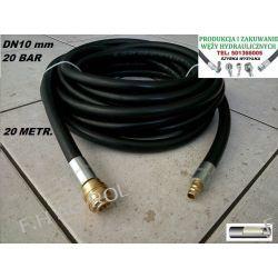 Wąż przewód gumowy do kompresora-sprężarki,20 metrów. 20-BAR. DN10, zakuty Żarówki