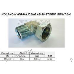 Kolano hydrauliczne ab-90st. gwint: 3/4 CALA / BSP Części do maszyn budowlanych