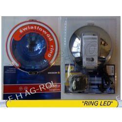 Reflektor drogowy halogen dalekosiężny - chromowany, błękitny ze światłem pozycyjnym w światłowodzie typu HOS2 ,12V Żarówki