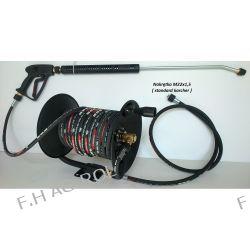 Wąż przewód do myjki KARCHER 50 metrów,250 BAR,DN08 TEMP: DO 155°+bęben+pistolet+lanaca+dysza